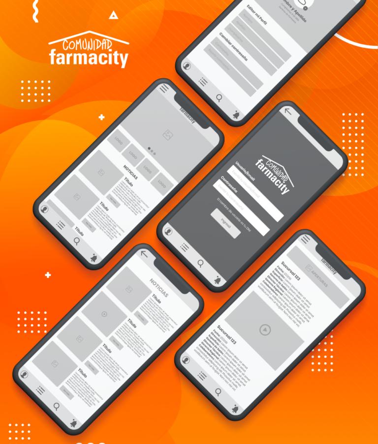 Comunidad Farmacity – APP Wireframe